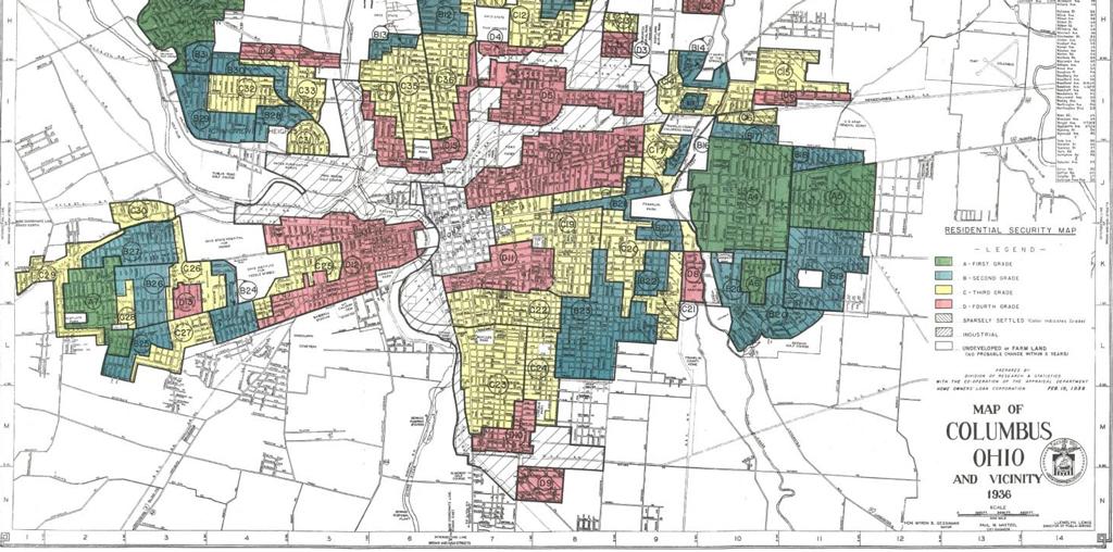 Map Redlining Columbus